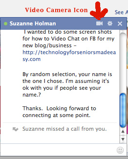 Facebook Message box