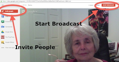 Start Broadcast on Google Hangout