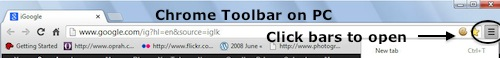 Chrome Toolbar in PC