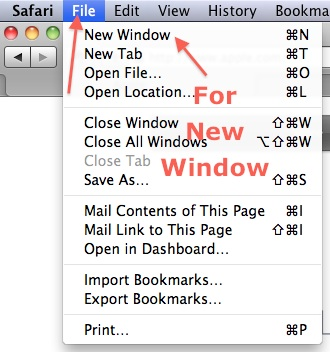 Open New Window in Safari