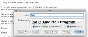 Find in Mac Mail
