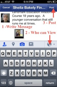 iPhone - 3 steps to post Photo in Facebook
