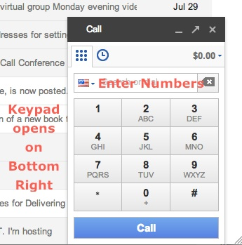Google Phone Keypad