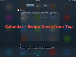 ios7 Showing Calendar in iPad of iPhone