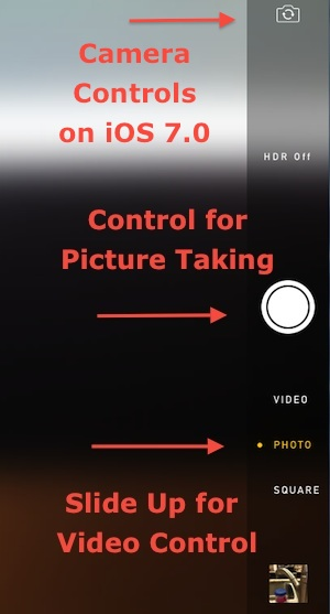 ios7 camera controls
