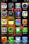 iPhone Home Page - Text - Message Icon