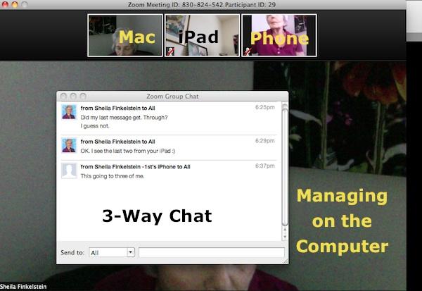 Z00M - 3 way chat