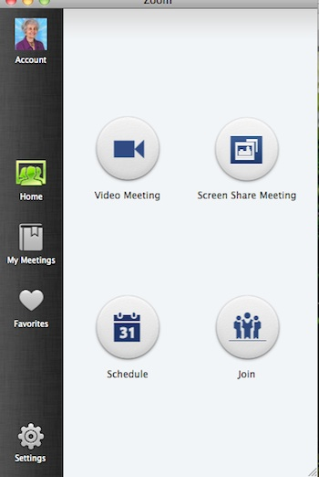 Zoom Open Meeting Option Panel
