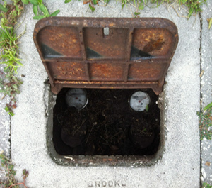 In-Ground Opened Water Meter