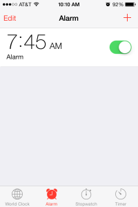 iPhone Alarm - on
