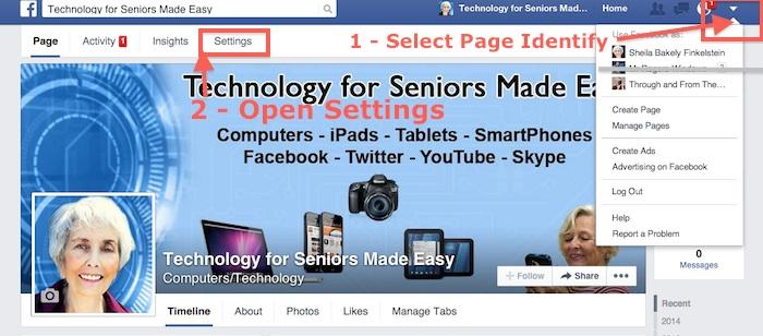 Facebook Fan Page Identity