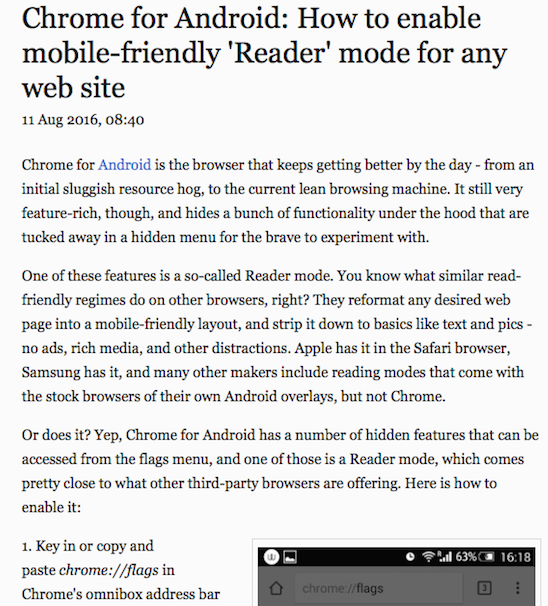 Screen Shot - How to Enable Reader for Android